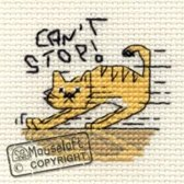 Mini Borduurpakketje Kat - Can't Stop - Mouseloft