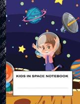 Kids in Space Notebook: Boys' and Girls Fun Handwriting and Printing Practice Notebook for Grades K-2-3