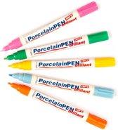 Pennen met glanzende porseleinverf  (Pakket A)