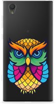 Sony Xperia L1 Hoesje Colorful Owl Artwork