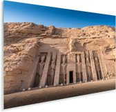 Gezicht op de tempel van Nefertari Abu Simbel in Egypte Plexiglas 90x60 cm - Foto print op Glas (Plexiglas wanddecoratie)