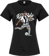 Ronaldo Script Dames T-Shirt - Zwart
