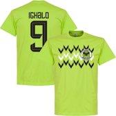 Nigeria Pattern Ighalo 9 Team T-Shirt - Lichtgroen - XL