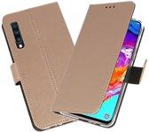 Booktype Wallet Cases Hoesje voor Samsung Galaxy A70 Goud