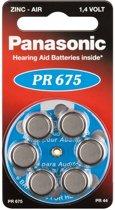 Panasonic PR 675 hoorapparaat cellen Zinc Air 6 stuks