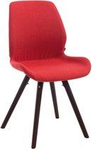 Clp Perth - Bezoekersstoel - Stof - rood kleur onderstel : rond cappucino