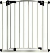 Maxigate Autoclose: metalen traphekje van 103 – 112 cm. / Klemhekje zonder boren