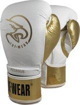 TUF Wear Pegasus (kick)bokshandschoen Leder Wit/Goud 14oz