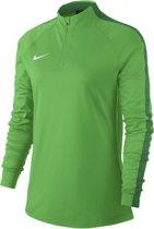 Nike Dry Academy 18 Drill Top Sportshirt Dames - groen/wit