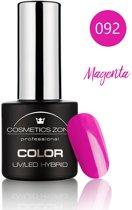 Cosmetics Zone UV/LED Hybrid Gel Nagellak 7ml. Magenta 092