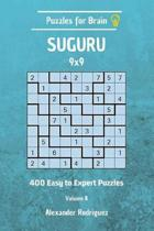Puzzles for Brain Suguru - 400 Easy to Expert 9x9 Vol. 8