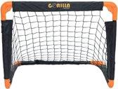 Gorilla Training voetbaldoel pop-up zwart/oranje 55x43x30cm