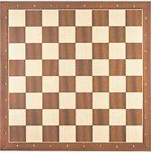 Luxe schaakbord mahonie en esdoorn 50 cm met notatie - veldmaat 55 mm - maat 6