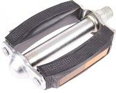 M-wave Pedaal rubber met reflector zwart/zilver