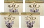 "RVS Theefilter ""Teapot"" | 4 stuks"