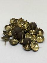 Stoffeernagel met ronde kop oud goud 14MM 40 stuks