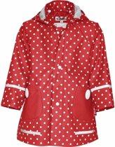 Kinder regenjas rood met witte stip design 92 (18-24 mnd)