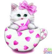 "Diamond Painting ""JobaStores®"" Kitten Roze - volledig - 30x30cm"