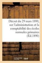 D cret Du 29 Mars 1890, Administration Publique Sur l'Administration, Comptabilit Des coles