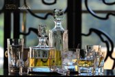 ROGASKA 1665 - MANHATTAN Kristal Decanter Whiskey - 3 delig Set