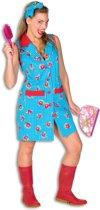 Serveersters & Kamermeisjes Kostuum   Vrolijke Bloemetjesschort Interieur Verzorgster   Vrouw   Maat 46   Carnaval kostuum   Verkleedkleding