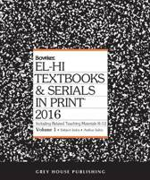 El-Hi Textbooks & Serials In Print, 2016