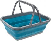 Summit - Opvouwbare Picknickmand - Emmer - 17,5 Liter - Blauw/grijs
