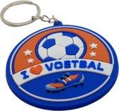 I love Voetbal sleutelhanger - voetbal - sport - cadeau - kado - geschenk - gift - verjaardag - feestdag – verassing – balsport – voetbalschoenen – speelveld – uefa – fifa – ronaldo – messi