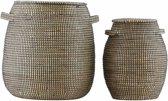 House Doctor hn4001 Set gevlochten manden - zeegras
