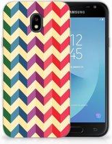 Samsung Galaxy J3 2017 Uniek TPU Hoesje Zigzag Color