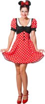 Mickey & Minnie Mouse Kostuum | Minnie De Dottige Muis | Vrouw | Maat 42 | Carnaval kostuum | Verkleedkleding