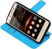 Huawei Y5 II Blauw | Cross Pattern TPU bookstyle / book case/ wallet case  | WN™
