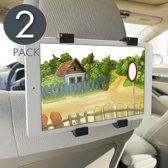 2x Tablet Houder voor Auto Hoofdsteun / Autohouder - Universeel voor Elke Tablet Apple iPad / Samsung Galaxy Tab / Asus / Lenovo / Microsoft