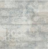 Vintage beton/print grijs behang (vliesbehang, grijs)
