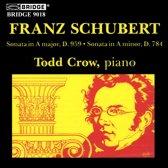 Schubert: Piano Sonatas D 959 & 784 / Todd Crow