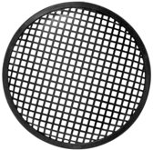 HQ Power 8'' black metal speaker grille Metaal Zwart speaker steun