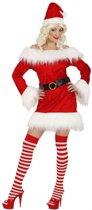 Fluwelen kerstpakje voor dames L