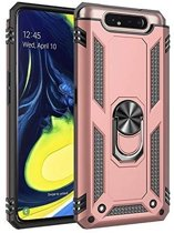 Teleplus Samsung Galaxy A80 Case Vega Ring Tank Cover Rose Gold hoesje