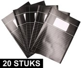 20x Zwarte A4 lijntjes schriften pakket - Voordeelpakket - Schoolschriften - Notitieschriften