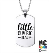 Ketting RVS - Little Guy Big Heart