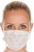 Mondkapjes met elastiek 1-laag 50 STUKS in gripzak