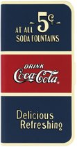 Coca-Cola Old 5cents Booklet Case voor de iPhone 6