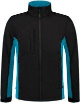 Tricorp 402002 Softshell Zwart Turquoise maat 5XL