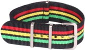 Premium Green Yellow Red - Nato strap 22mm - Stripe - Horlogeband Groen Geel Rood +  luxe pouch