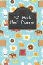 52 Week Meal Planner: Organizer Includes Grocery Shopping List and Recipe Book