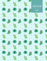 Sketch 110 Pages: Cactus Sketchbook for Kids, Teen and College Students - Succulent Llama Pattern