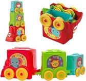 Speelgoedtreintje | Stapel en Rij Trein | Speelgoed | Trein | 6 Maanden +