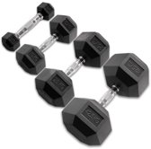 Body-Solid Hexagon Rubber Dumbbell 2 x 7 KG