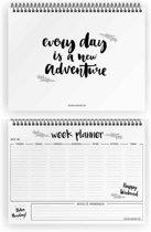 Weekplanner A4 Zwart wit - Ringband - DesignClaud