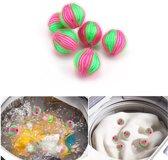 Anti-Pluis Wasbal Set - Nylon Wasmachine Ballen - Wasballen Wasbol - Pluisballen 6 Stuks